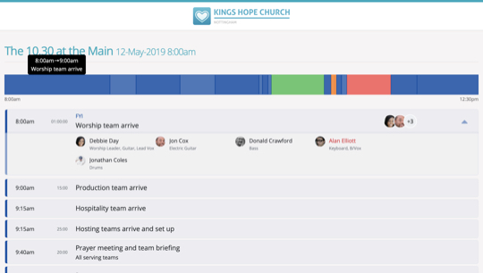 Service planning for Teams - ChurchSuite