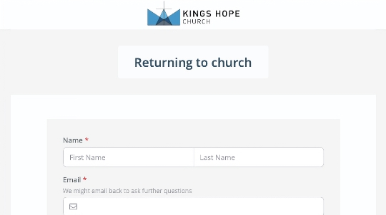 Example form that churches can use for planning a return to in-person services